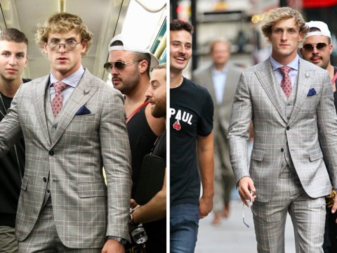 Logan Paul gets the Tube in a three-piece suit as he prepares to face off against KSI