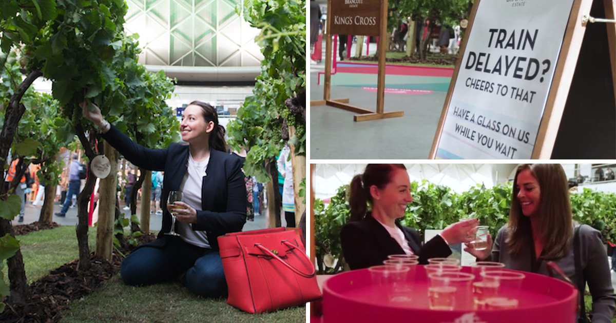 London commuters, assemble and get some free wine from these popup vineyards