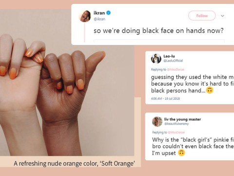 Did Stylenanda use blackface on this model's hand?