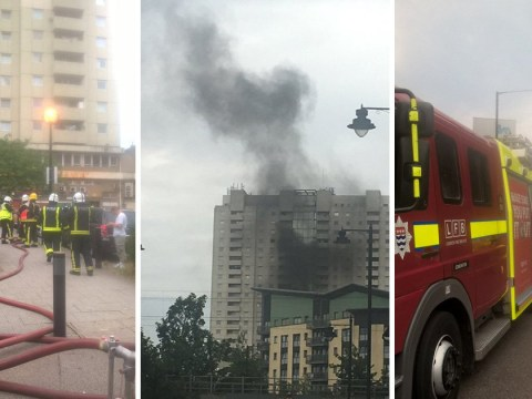 Over 50 firefighters tackle tower block fire in north London