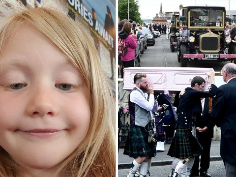 Hundreds dress in pink for funeral of girl, 6, 'murdered' on Isle of Bute