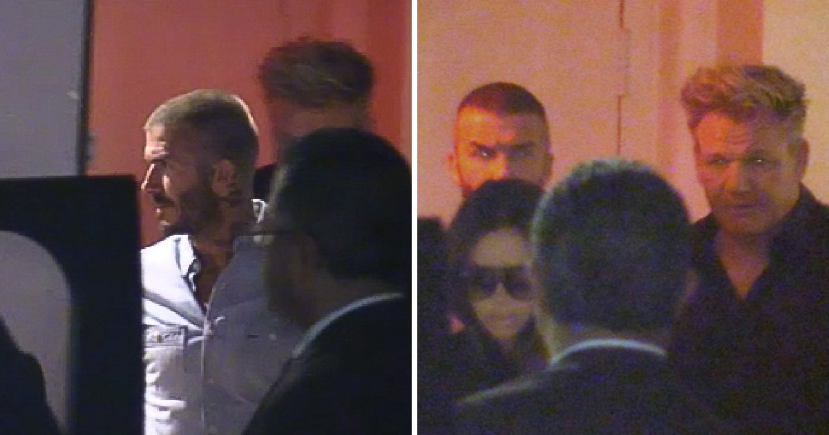 David Beckham brings back iconic buzz cut as he shows off new do during dinner with Gordon Ramsay