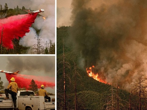 Shocking footage shows massive wildfire raging near Yosemite National Park