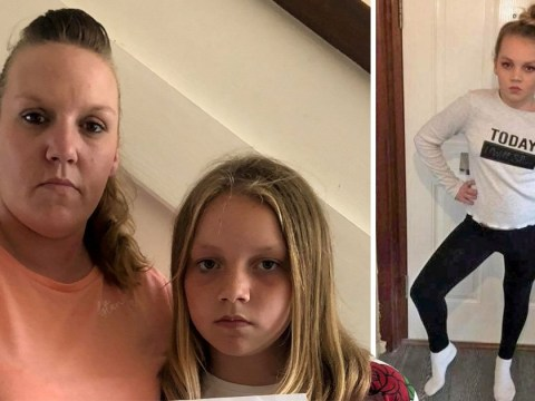 Girl, 11, who weighs 7.5st receives letter saying she's 'overweight'
