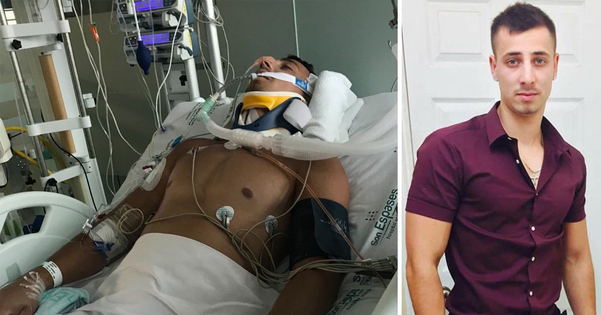 Man who broke neck jumping into hotel pool in Magaluf can't afford to fly home