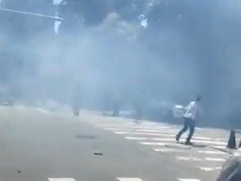 Man 'detonates homemade bomb' outside US embassy in Beijing