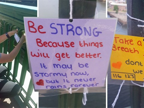 Teenager's inspirational notes on bridge have already saved eight people's lives