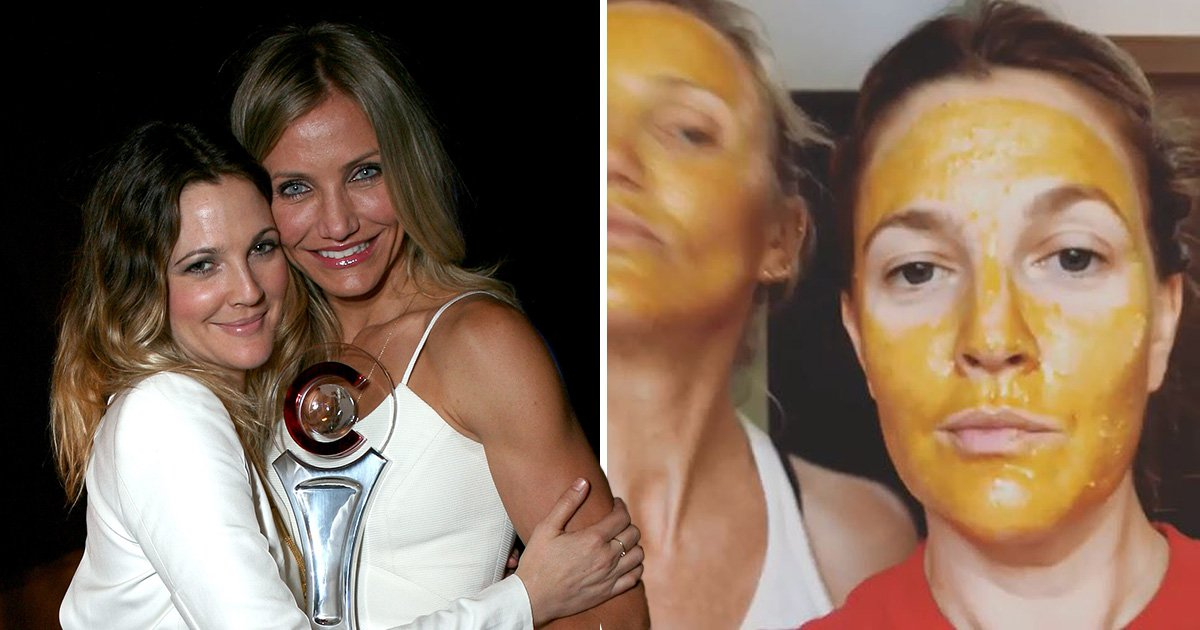 Cameron Diaz and Drew Barrymore keep the Charlie's Angels dream alive with face mask session