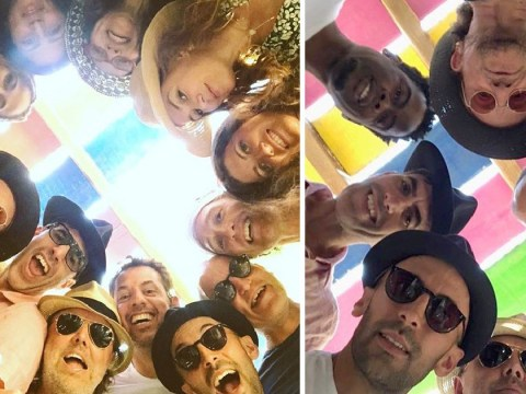 Epic holiday selfie brings Bono, Chris Rock, Sacha Baron Cohen, Woody Harrelson and Matthew McConaughey together