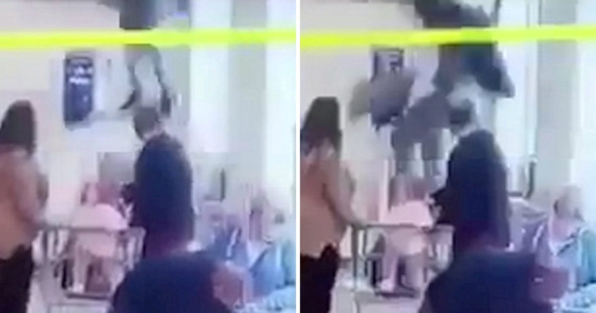 'Thief' crashes through Aldi ceiling while trying to escape