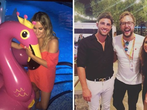 Caroline Flack's dance moves steal the show at the Love Island wrap party in Mallorca