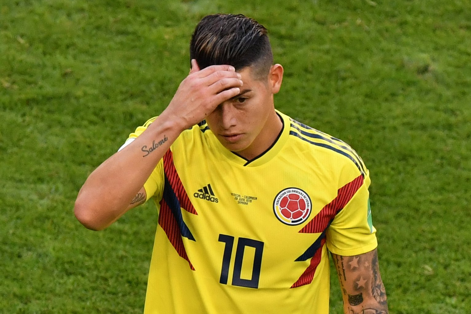 James Rodriguez a major doubt to start in England's clash with Colombia
