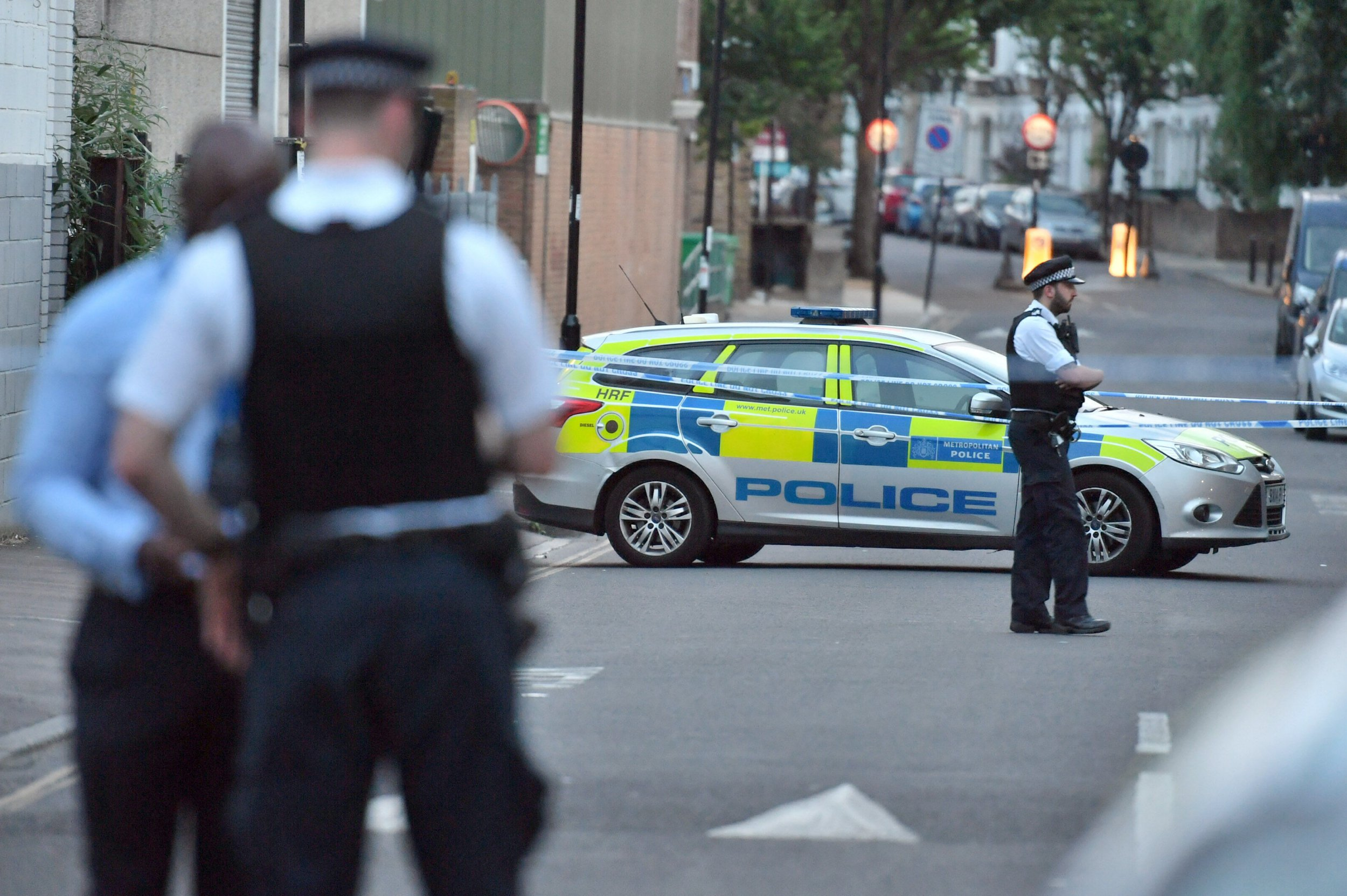 The scene in Fairbridge Road near Archway, north London after a 14 year old boy was found with multiple stab wounds. An 11-year-old boy has been arrested on suspicion of attempted murder. PRESS ASSOCIATION Photo. Picture date: Sunday July 1, 2018. See PA story POLICE Archway. Photo credit should read: John Stillwell/PA Wire