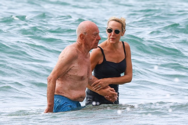 1 July 2018 - EXCLUSIVE. Exclusive - Jerry Hall and her husband Rupert Murdoch on holiday in the South of France on July 1, 2018. Jerry Hall is celebrating her birthday today 2 July 1956 (age 62 years). STRICTLY NO CREDIT Credit: NO CREDIT Ref: KGC-464/643047 **UK Sales Only - Exclusive - Newspapers Allrounder - Magazines Double Space Rates - Online/Web Must Call Before Use STRICTLY NO CREDIT**
