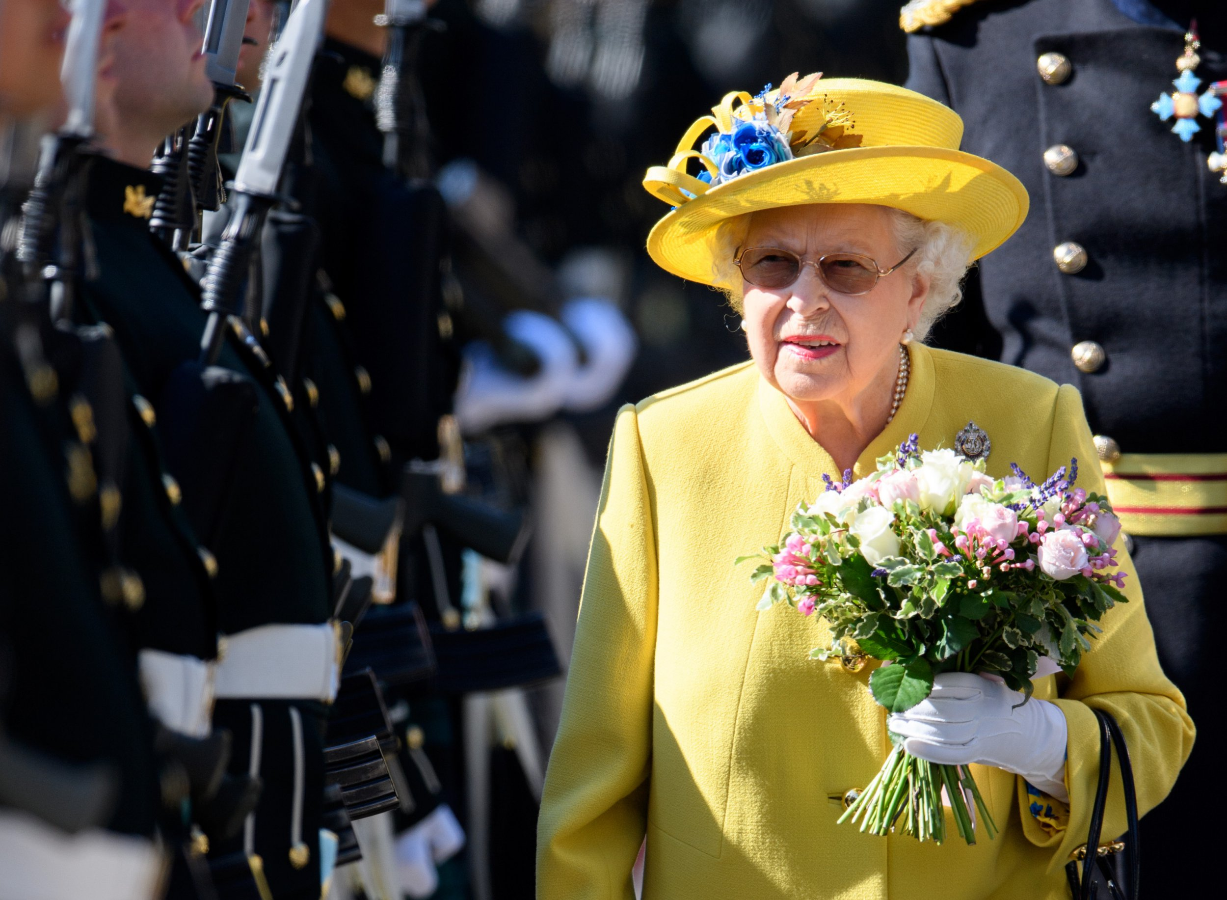 Mandatory Credit: Photo by Tim Rooke/REX/Shutterstock (9732871aa) Queen Elizabeth II Ceremony Of The Keys at the Palace of Holyroodhouse, Edinburgh, Scotland - 02 Jul 2018
