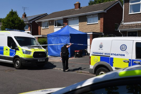 CHESTER, ENGLAND - JULY 03: A police tent is seen outside number 41 Westbourne Road in Chester after a healthcare professional working at the Countess of Chester Hospital was arrested on suspicion of murdering eight babies and attempting to kill six others, on July 3, 2018 in Chester, United Kingdom. A female health care worker at the Countess of Chester Hospital has been arrested on suspicion of murdering eight babies. Cheshire Police having been have been investigating the deaths of 17 newborns at the neonatal unit between March 2015 and July 2016. (Photo by Anthony Devlin/Getty Images)