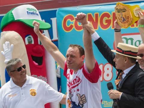 Who won the Nathan's Hot Dog Eating Contest and how many hot dogs did he eat?