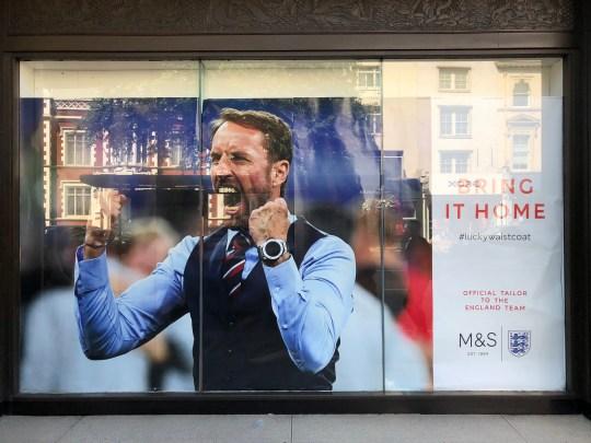 Gareth Southgate M&S waistcoat ad