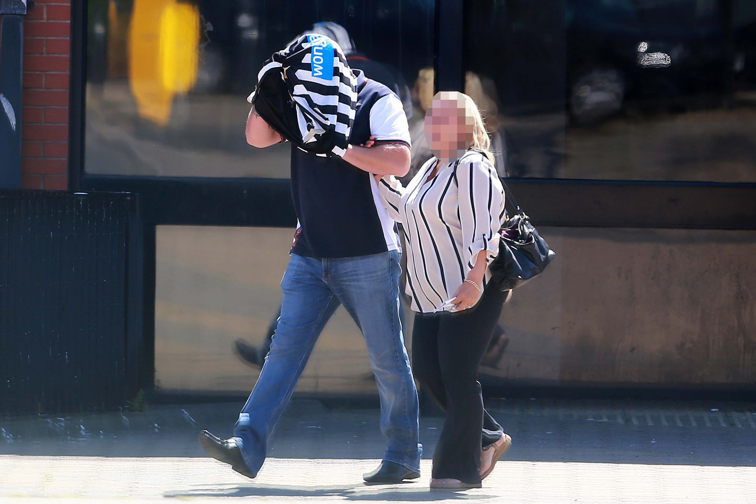 A drunk passenger who had downed cocktails and taken prescription drugs flew into an aggressive rage while onboard a flight.Miles Cowell became abusive while travelling on a packed Jet2 plane from Faro to Newcastle before deliberately and continuously banging his chair, causing food and drink to spill over an autistic boy sitting behind him, a court heard.caption: Miles Cowell with an unknown female outside North Tyneside Magistrates Court