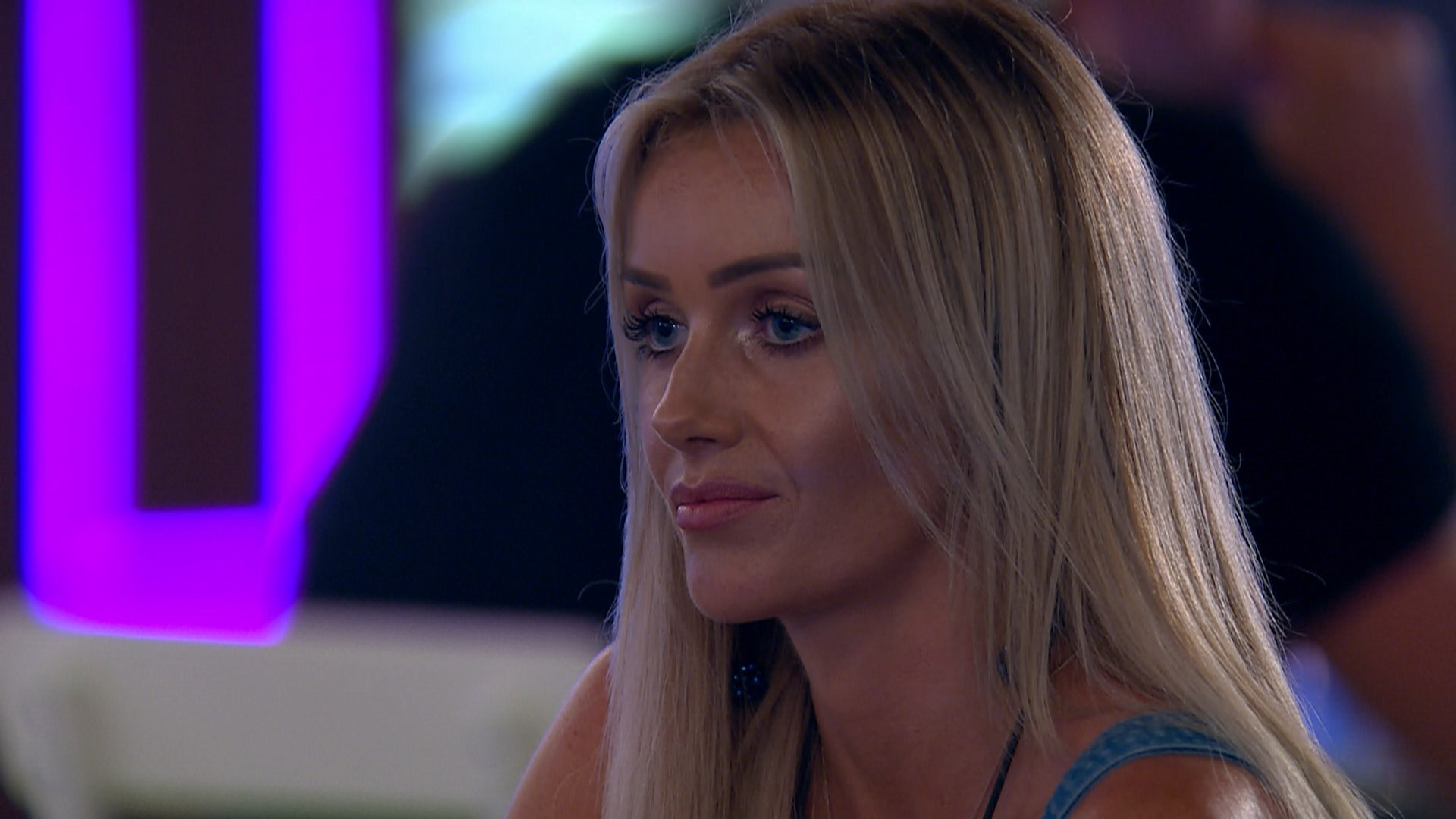 From ITV Studios Love Island: SR4: Ep35 on ITV2 Pictured: Laura tries to make things up with Jack at dinner. This photograph is (C) ITV Plc and can only be reproduced for editorial purposes directly in connection with the programme or event mentioned above, or ITV plc. Once made available by ITV plc Picture Desk, this photograph can be reproduced once only up until the transmission [TX] date and no reproduction fee will be charged. Any subsequent usage may incur a fee. This photograph must not be manipulated [excluding basic cropping] in a manner which alters the visual appearance of the person photographed deemed detrimental or inappropriate by ITV plc Picture Desk. This photograph must not be syndicated to any other company, publication or website, or permanently archived, without the express written permission of ITV Plc Picture Desk. Full Terms and conditions are available on the website www.itvpictures.co.uk For further information please contact: james.hilder@itv.com / 0207 157 3052