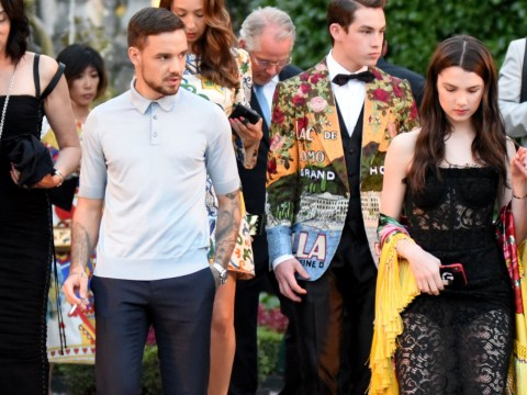 Liam Payne hangs out with models at Dolce and Gabbana show in wake of Cheryl split