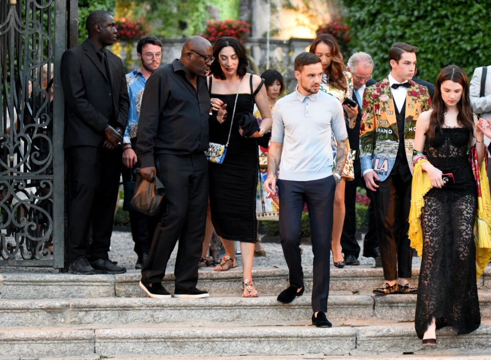 """EXCLUSIVE: **NO WEB UNTIL 1PM BST 9TH JULY** Singer Liam Payne was spotted this afternoon in Lake Como at Dolce and gabbana fashion event in Tremezzo Villa Carlotta, then reached the gala dinner in Villa Olmo with the steamer boat """"Milano"""". He was with a beautiful girl but had eyes for more than one. He just broke up with Cheryl Cole. 07 Jul 2018 Pictured: Liam Payne. Photo credit: MEGA TheMegaAgency.com +1 888 505 6342"""