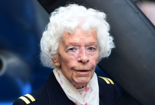 RAF Veteran Mary Ellis attending the premiere of Spitfire, held at the Curzon Mayfair, London. PRESS ASSOCIATION Photo. Picture date: Monday 9th July, 2018. See PA story SHOWBIZ Spitfire. Photo credit should read: Ian West/PA Wire