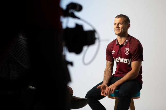 LONDON, ENGLAND - JULY 09: Jack Wilshere poses after signing for West Ham United on July 09, 2018 in London, England. (Photo by West Ham United FC/West Ham United via Getty Images)