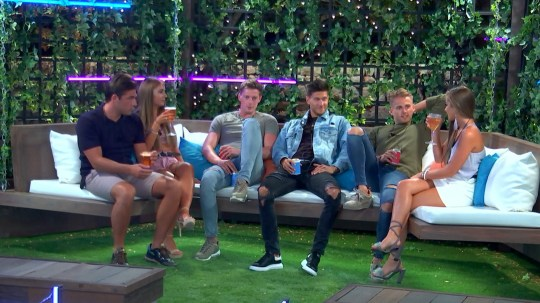 From ITV Studios Love Island: SR4: Ep37 on ITV2 Pictured: The Islanders tell Georgia they think one of the new boys will pick her. This photograph is (C) ITV Plc and can only be reproduced for editorial purposes directly in connection with the programme or event mentioned above, or ITV plc. Once made available by ITV plc Picture Desk, this photograph can be reproduced once only up until the transmission [TX] date and no reproduction fee will be charged. Any subsequent usage may incur a fee. This photograph must not be manipulated [excluding basic cropping] in a manner which alters the visual appearance of the person photographed deemed detrimental or inappropriate by ITV plc Picture Desk. This photograph must not be syndicated to any other company, publication or website, or permanently archived, without the express written permission of ITV Plc Picture Desk. Full Terms and conditions are available on the website www.itvpictures.co.uk For further information please contact: james.hilder@itv.com / 0207 157 3052