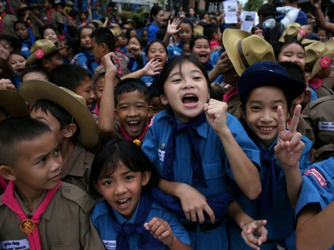 This is how Thailand celebrated the rescue of trapped cave boys