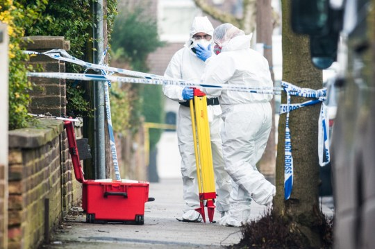 MERCURY PRESS. 11/07/18. Pictured: (From 11/01/18) Barbara Coombes house on Matlock Road in Greater Manchester as forensic investigators arrived to survey the scene. An investigation was launched and on Tuesday 9 January 2018, officers searching a property in Reddish found the body of a man. Barbara Coombes (15/07/54) is due to appear in court today charged with the murder of Kenneth Coombes and then burrying him in the garden of their home.