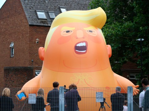 Tens of thousands set to protest against Donald Trump in frosty welcome by British public