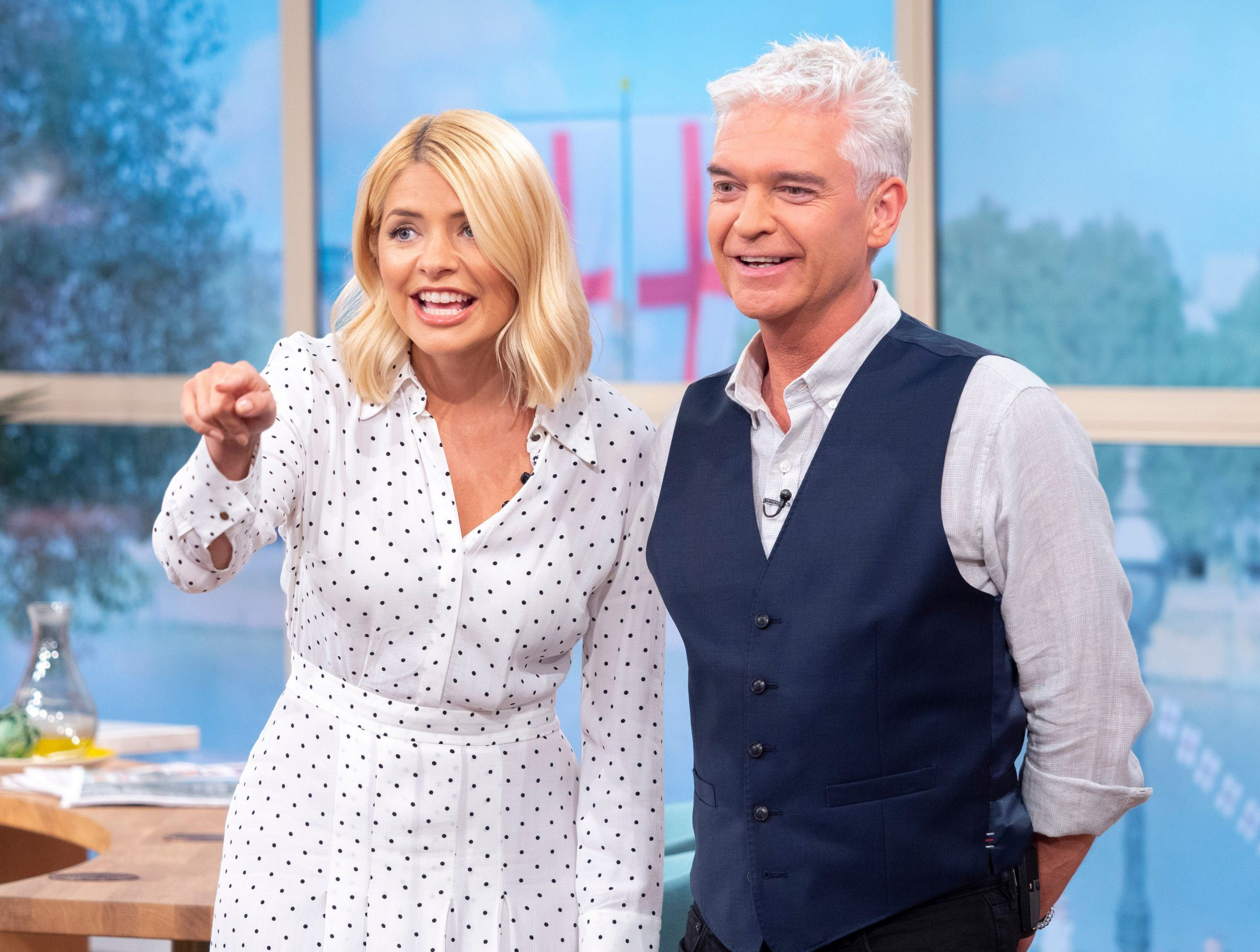 EDITORIAL USE ONLY. NO MERCHANDISING Mandatory Credit: Photo by Ken McKay/ITV/REX/Shutterstock (9754663cf) Holly Willoughby and Phillip Schofield 'This Morning' TV show, London, UK - 11 Jul 2018 We?re getting you in the mood for tonight?s match and talking all things World Cup. We had a spare ticket so we?ve sent our This Morning receptionist Suzy out to Moscow to soak up the atmosphere. And Uri Geller is back to send some more positive energy into the atmosphere, we?ll even have some help from the actual winning ball used by England in the 1966 World Cup.