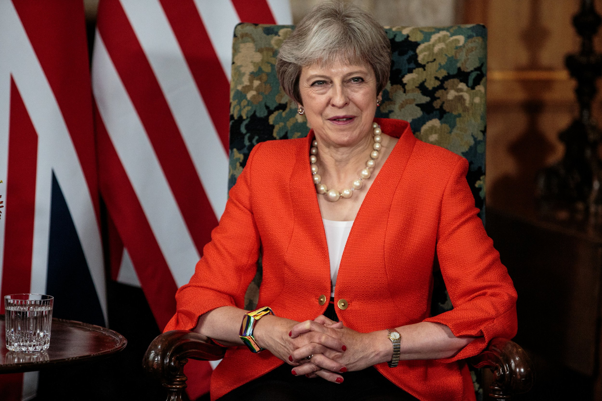 Prime Minister Theresa May during a meeting with US President Donald Trump at Chequers, her country residence in Buckinghamshire. PRESS ASSOCIATION Photo. Picture date: Friday July 13, 2018. See PA story POLITICS Trump. Photo credit should read: Jack Taylor/PA Wire