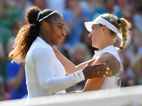 Serena Williams fights back the tears after Wimbledon final defeat