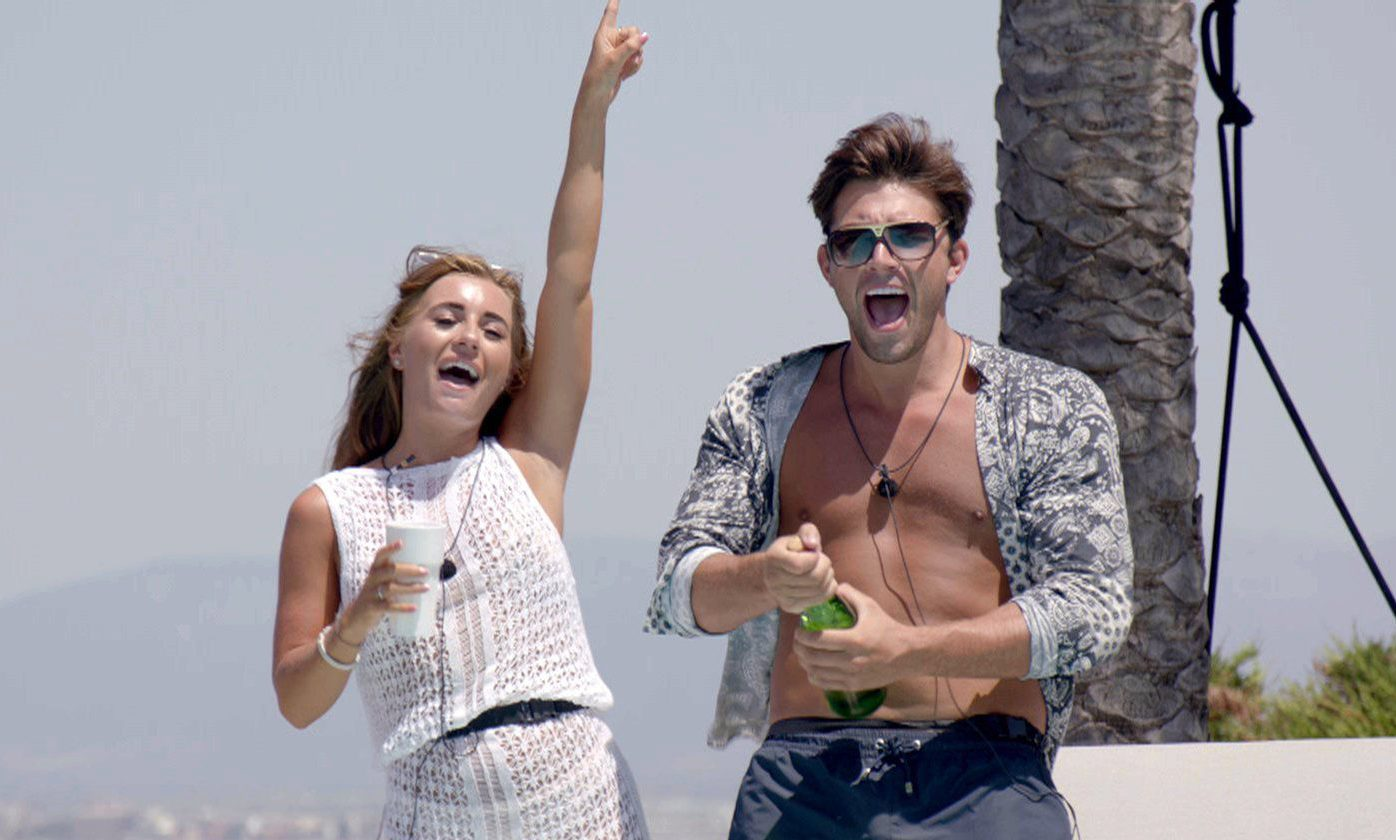 From ITV Studios Love Island: SR4: Ep42 on ITV2 Pictured: Jack and Dani at the beach club. This photograph is (C) ITV Plc and can only be reproduced for editorial purposes directly in connection with the programme or event mentioned above, or ITV plc. Once made available by ITV plc Picture Desk, this photograph can be reproduced once only up until the transmission [TX] date and no reproduction fee will be charged. Any subsequent usage may incur a fee. This photograph must not be manipulated [excluding basic cropping] in a manner which alters the visual appearance of the person photographed deemed detrimental or inappropriate by ITV plc Picture Desk. This photograph must not be syndicated to any other company, publication or website, or permanently archived, without the express written permission of ITV Plc Picture Desk. Full Terms and conditions are available on the website www.itvpictures.co.uk For further information please contact: james.hilder@itv.com / 0207 157 3052