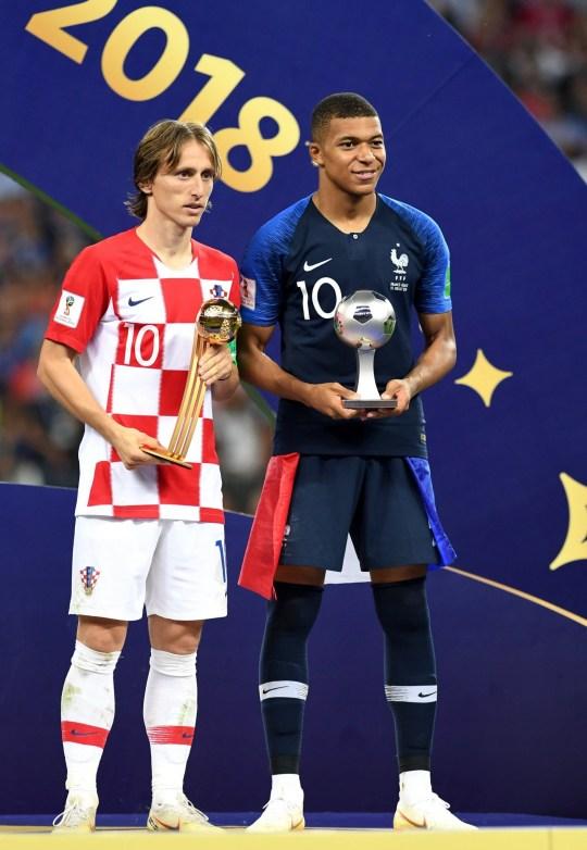 more photos 33eec 4e331 Luka Modric wins World Cup Golden Ball as Kylian Mbappe ...