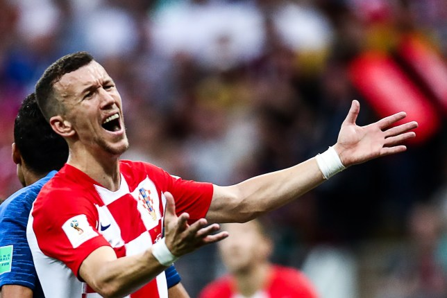 MOSCOW, RUSSIA - JULY 15, 2018: Croatia's Ivan Perisic in the 2018 FIFA World Cup Final match between France and Croatia at Luzhniki Stadium. Valery Sharifulin/TASS