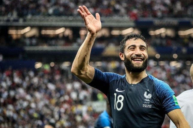 BGUK_1289533 - ** RIGHTS: ONLY UNITED KINGDOM ** Moscow, RUSSIA - Final of the 2018 Football World Cup at the Luzhniki stadium in Russia, Moscow, France beat Croatia (4-2) Pictured: Nabil Fekir BACKGRID UK 15 JULY 2018 BYLINE MUST READ: BEST IMAGE / BACKGRID UK: +44 208 344 2007 / uksales@backgrid.com USA: +1 310 798 9111 / usasales@backgrid.com *UK Clients - Pictures Containing Children Please Pixelate Face Prior To Publication*