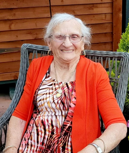 Meet the 90-year-old who has just welcomed her 100TH grandchild into the world. See SWNS story SWGRAN. Winny Stokes had 14 children who went on to have 34 of their own kids. But the latest arrival to the brood brings the number of grandchildren, great grandchildren and great great grandchildren to 66. It means Winny now has exactly 100 grandchildren. She hit three figures in the past few weeks when the latest member of her family, baby Hunter, arrived. Widow Winny, who was married to Ken, said her children would top and tail in bunk beds every night growing up - and they were all in bed by 7pm. It also meant family holidays to Blackpool required a 52-seater coach. Winny, from Gloucester, said: ?I just couldn?t believe it when I was told I had 100 grandchildren.