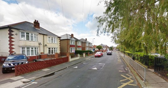 Woman suffers facial burns after lit cigarette thrown from car hits her oxygen tank. Picture: Harris Street, Darlington, close to St. Teresa's Roman Catholic Primary School Credit: Google