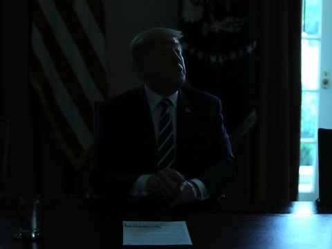 Lights go out on Trump at moment he makes U-turn on Russian election interference