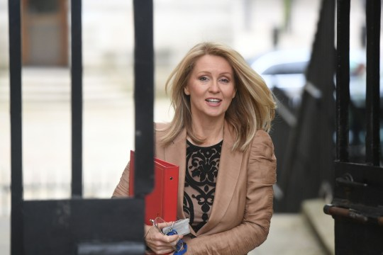 Work and Pensions Secretary Esther McVey arrives in Downing Street, London, for a cabinet meeting.