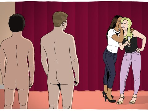 What it's like inside CFNM (clothed female, naked male) fetish parties