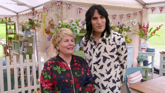 The baker are set the challenge of making a family sized fruity cake on 'The Great British Bake Off'. Broadcast on Channel 4 Featuring: Noel Fielding, Sandi Toksvig When: 29 Aug 2017 Credit: Supplied by WENN **WENN does not claim any ownership including but not limited to Copyright, License in attached material. Fees charged by WENN are for WENN's services only, do not, nor are they intended to, convey to the user any ownership of Copyright, License in material. By publishing this material you expressly agree to indemnify, to hold WENN, its directors, shareholders, employees harmless from any loss, claims, damages, demands, expenses (including legal fees), any causes of action, allegation against WENN arising out of, connected in any way with publication of the material.**