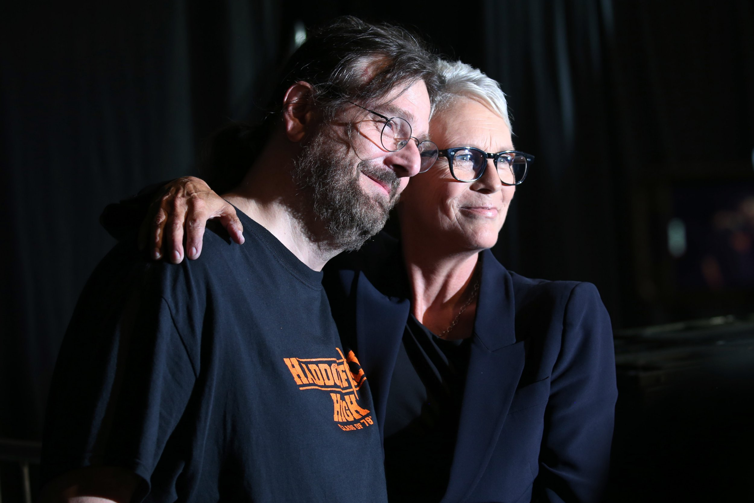 Jamie Lee Curtis embraces crying fan who revealed she 'saved his life' in armed home invasion