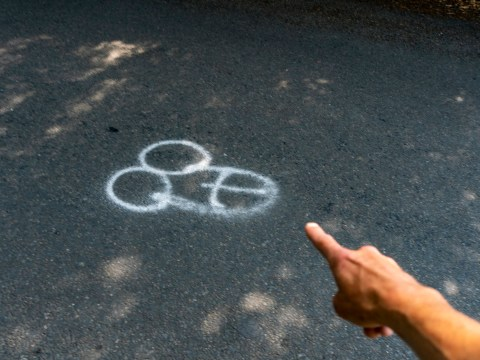 Mystery surrounds why these graffiti penises appeared on a busy road