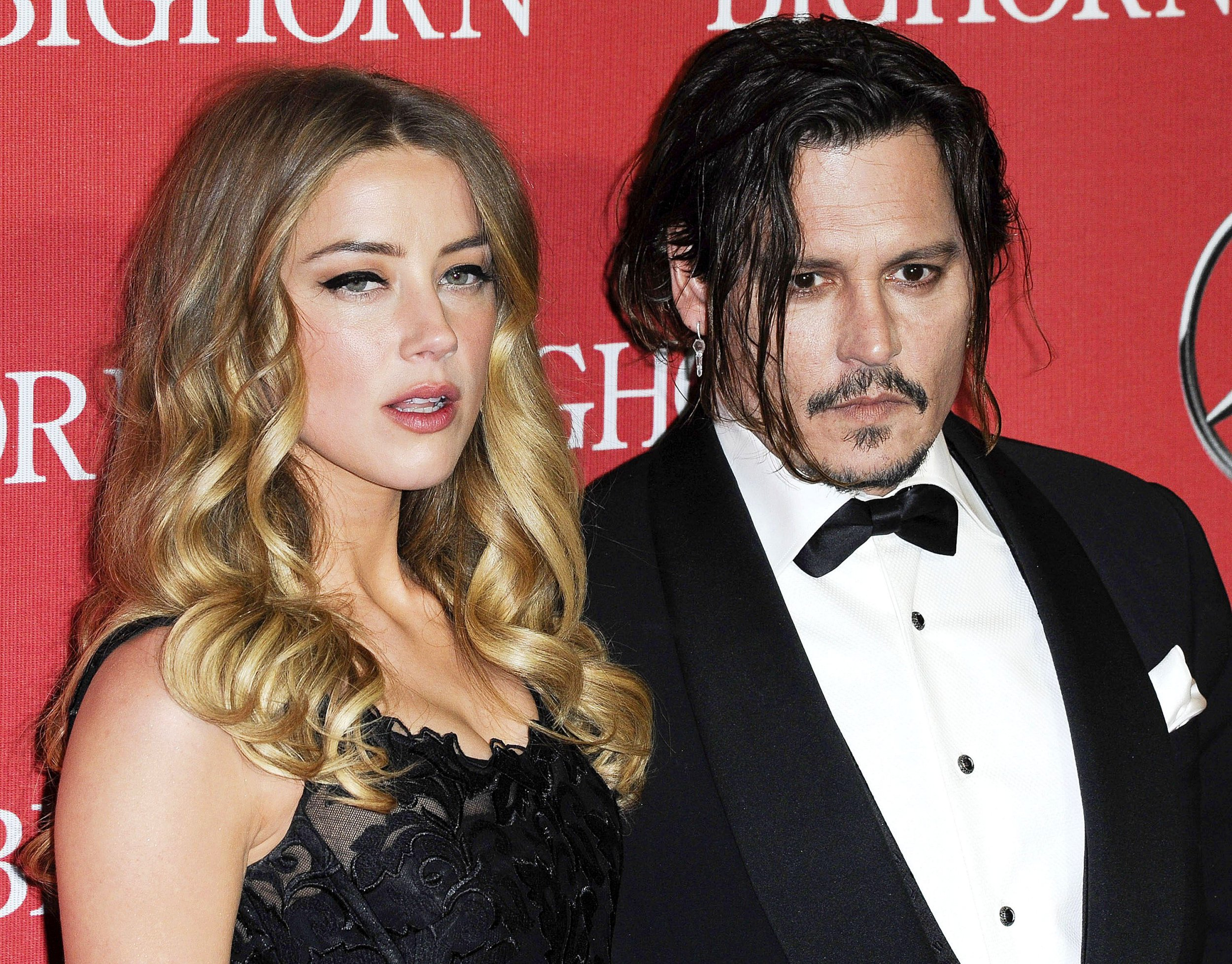 Mandatory Credit: Photo by Broadimage/REX/Shutterstock (5505643b) Amber Heard, Johnny Depp Palm Springs International Film Festival Gala, Arrivals, America - 02 Jan 2016 27th Annual Palm Springs International Film Festival Awards Gala