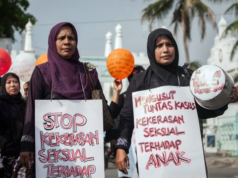Girl, 15, jailed in Indonesia for having an abortion after brother, 18, raped her