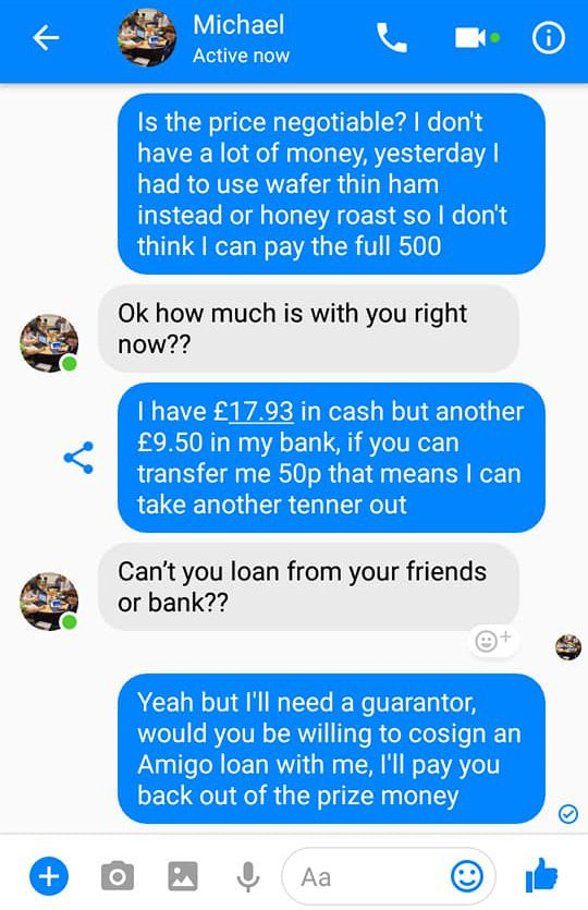 Man spends two hours hilariously trolling Facebook scammer | Metro News